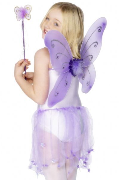 Purple Butterfly Wings with Wand